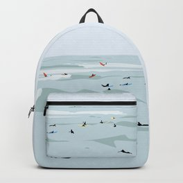 Tiny Surfers in Lima Illustrated Backpack