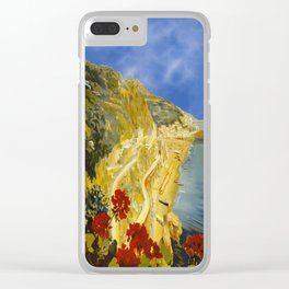 Vintage Amalfi Italy Travel Clear iPhone Case