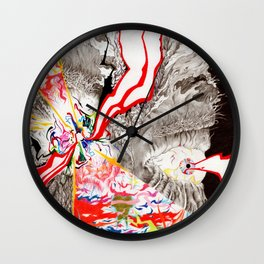Eye see that Eye can Create (Untitled Face I) Wall Clock