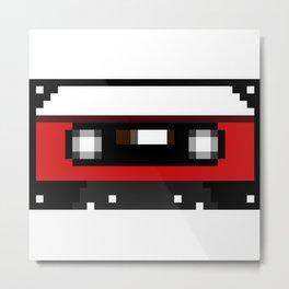 Red Cassette Metal Print