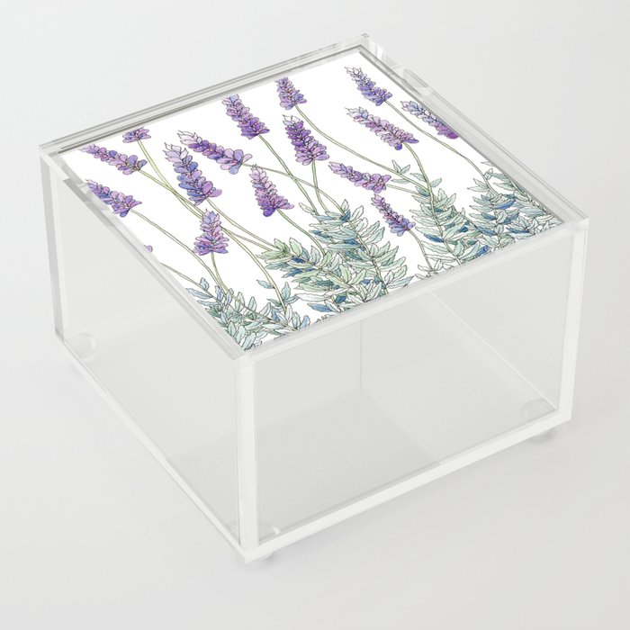 Lavender, Illustration Acrylic Box