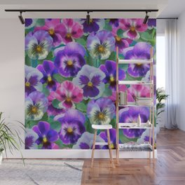 Bouquet of violets I Wall Mural