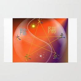 Feng Shui five elements Orange Purple Rug
