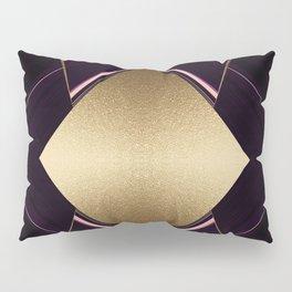 Rich Gold and Purple Accent Diamond Pattern Pillow Sham