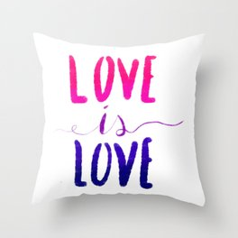 Love is Love - bi Throw Pillow