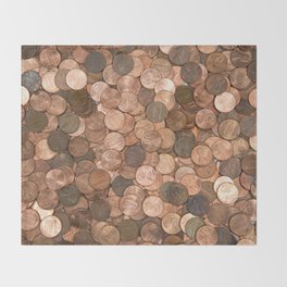 Pennies for your thoughts Throw Blanket