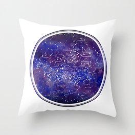 Star Map IV Throw Pillow