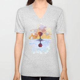 As Above So Below  No15 Unisex V-Neck