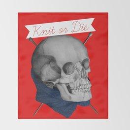 Knit or Die Throw Blanket