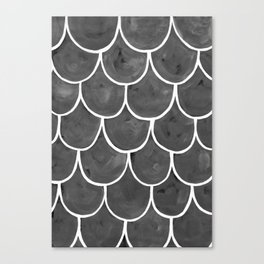 Grey chalk roof tiles Canvas Print