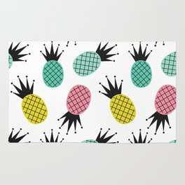 colorful cute pineapples  pattern background illustration Rug