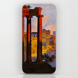 Vintage Rome Italy Travel iPhone Skin