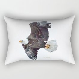Eagle soaring Rectangular Pillow