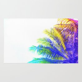Fantasic Rainbow Palm Tree Rug