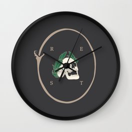 Rest to Dust Wall Clock