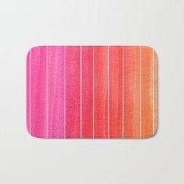 Watercolor Sunset Stripe  Bath Mat
