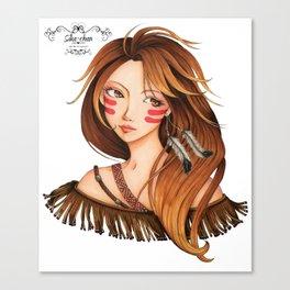 Fashion Squaw Canvas Print