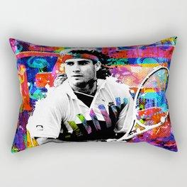 Game, Set, Mullet: Andre Agassi Rectangular Pillow