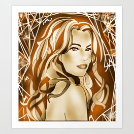 Web of Fire  Art Print