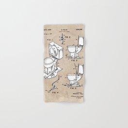 patent art Fields Toilet seat lifter 1967 Hand & Bath Towel