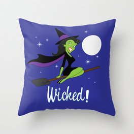 Wicked! Throw Pillow