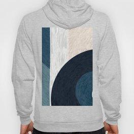 Blue & Neutral - Decorative Digital Acrylic Hoody