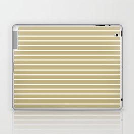 Horizontal Lines (White/Sand) Laptop & iPad Skin
