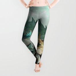 Behold the Mythical Merkitticorn - Mermaid Kitty Cat Unicorn Leggings