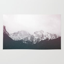 Snow on the Mountains Rug