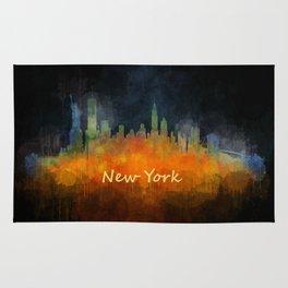 New York City Skyline Hq V04 Rug