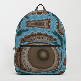 Brown Warts on Blue Pattern Backpack