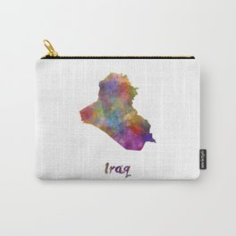 Iraq in watercolor Carry-All Pouch