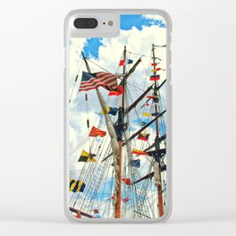 Navy Week Clear iPhone Case