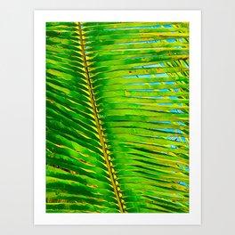 Coconut Frond in Green Aloha Art Print