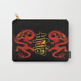 Asian Long Life Red Carry-All Pouch