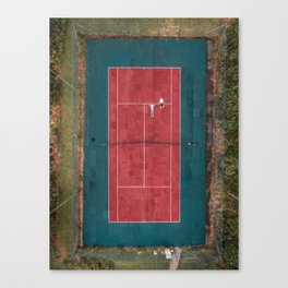 Tennis court, view of drone Canvas Print