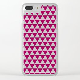Berry and Grey Triangles Clear iPhone Case