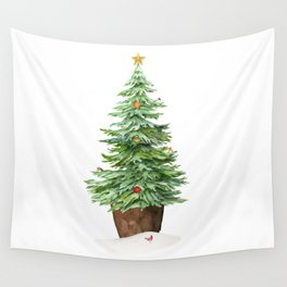 Trimming The Tree Wall Tapestry