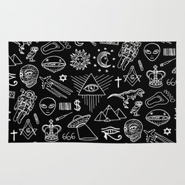 Conspiracy pattern Rug