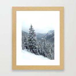 PNW Snow Day Framed Art Print