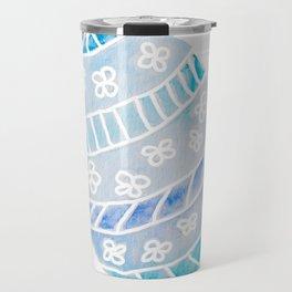Easter Egg in Blue and Teal Travel Mug