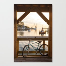 Shem Creek Bike Canvas Print