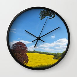Springtime in the Meon Valley Wall Clock