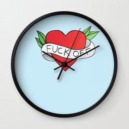 F**K OFF Wall Clock