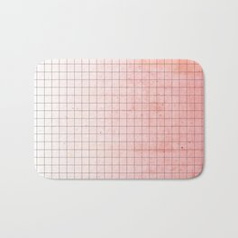 Sweet Pink Geometry Bath Mat