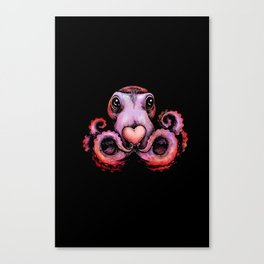Octopus needs love 2 Canvas Print