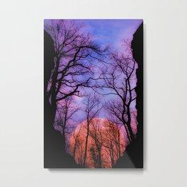 Moonrise Canyon Metal Print