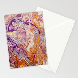 Molten gold Stationery Cards