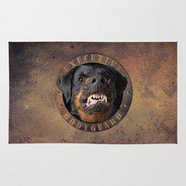 Executive bodyguard Angry rottweiler Rug