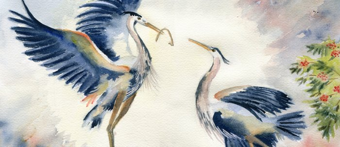 Great Blue Heron Couple Coffee Mug